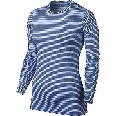 Nike Golf Women's Crew Baselayer 2.0 Chalk Blue/White/Silver CLOSEOUT 743007-486