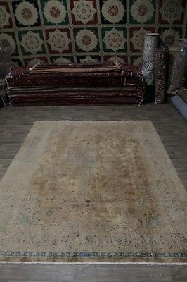 Antique Washed Muted Traditional Kashan Persian Rug Oriental Area Carpet 10X13