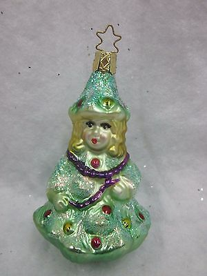 Merck Family's Old World Christmas Glass Ornament NWT Christmas Tree Girl