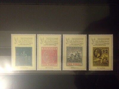 Barbados 150th Anniversary of 1st Adhesive Stamp, MNH Set, SG910/913