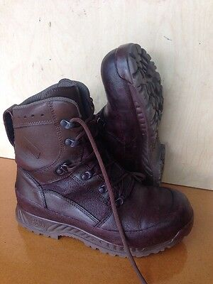 Size 7 genuine brown combat high liability haix boots! Grade 1-very Good!