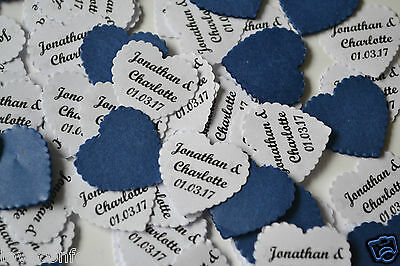 WEDDING 2017 PERSONALISED TABLE CONFETTI includes YOUR NAMES & DATE