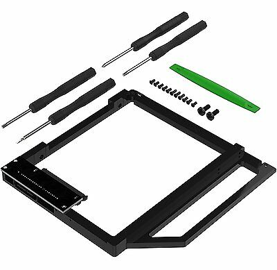 Sabrent Data Doubler Optical Bay to Hard Drive/SSD Caddy Tray Adapter (BK-HDCT)
