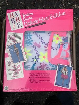 Barbie Trading Cards Deluxe First Edition 1990 Vinyl Binder Album 320 Cards NRFB