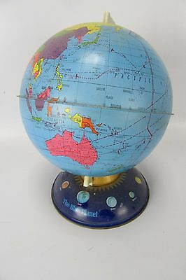 "The Blue Planet 10"" Vintage Tin Globe Excellent Condition"