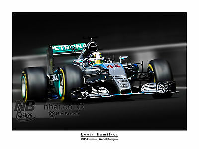 Lewis Hamilton 2015 F1 World Champion digital art print
