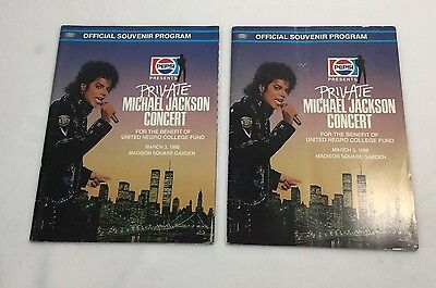 (2) Pepsi Presents Private Michael Jackson Concert March 3 1988 at MSG Programs