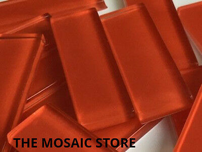 Red Crystal Glass Mosaic Tiles Rectangle 15x48mm - Art & Craft Supplies