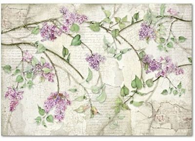 Rice paper 48х33 cm. LILAC. Decoupage. scrapbooking. crafts. STAMPERIA