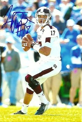 TYLER RUSSELL AUTHENTIC AUTOGRAPH MISSISSIPPI STATE FOOTBALL PHOTO w/COA