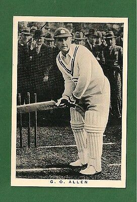 "GEORGE ALLEN ""Gubby"" Middlesex CCC ENGLAND ASHES TEST CRICKETER   1937 card"