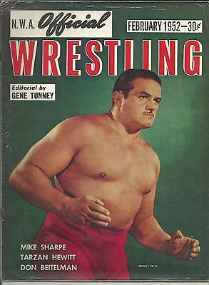 NWA Official Wrestling Magazine February 1952 - Mighty Atlas