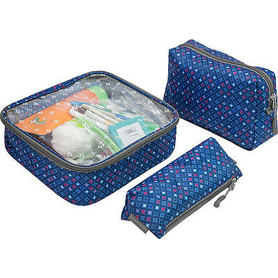 Travelon 3 Piece Toiletry Packing Set 2 Colors Packing Aid NEW