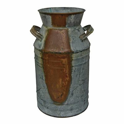 """Rustic Milk Can 7"""" Galvanized Dairy Can Southern FARMHOUSE Country Market Style"""