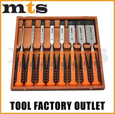 Bahco Bevel Edged 8 Piece Chisel Set In Wooden Box