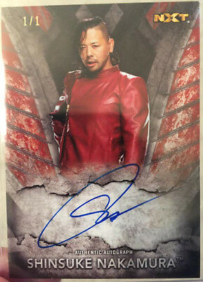 Topps 2016 WWE NXT Red Shinsuke Nakamura Autograph 1/1 Signature On Card