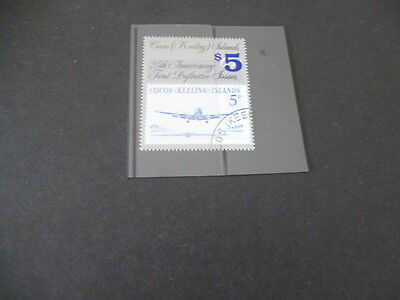 Cocos Keeling Islands 1990 Provisional Issue 5d over printed $5 Cancel to order