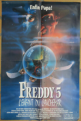 Affiche video club - Freddy 5 L'enfant du cauchemar - 60 x 40 cm