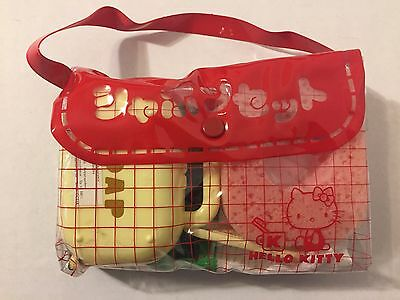 Vintage 1970s NEW Unused Sanrio Hello Kitty Travel Kit Bag Towel Holder Soap