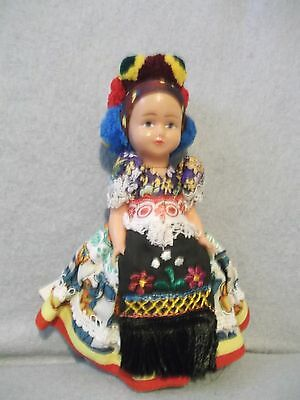 """Vintage 7"""" Magyar Hungary hand-crafted Souvenir doll Carefully stored clean tags"""