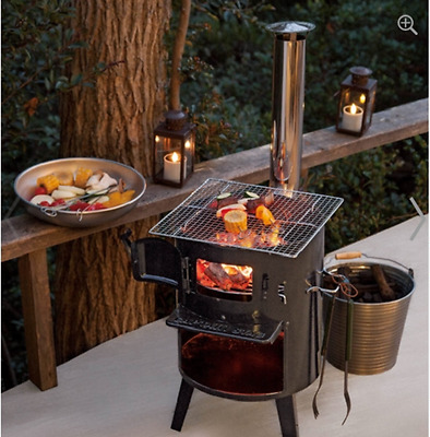 Japanese Outdoor Heater (Stove) by Firewood and Charcoal for Cooking & BBQ.