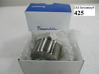 "Swagelok SS-20-P Stainless Steel 1 ¼"" Pipe Plug (new)"