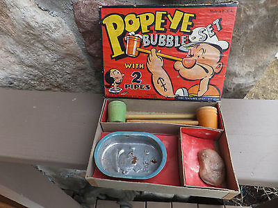 Antique Transogram King Features Syndicate 1936 3133 Popeye Bubble Set W/ Pipes