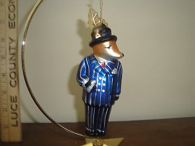 Pottery Barn Dasher Reindeer Blown Glass Christmas Ornament