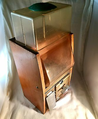 1950's Victor Vending Corp Baby Grand Vintage Gum One Cent Penny Machine Works