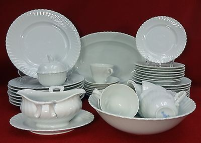 KAISER china NICOLE Swirl pattern 45-piece Place Settings for 8 with Serving