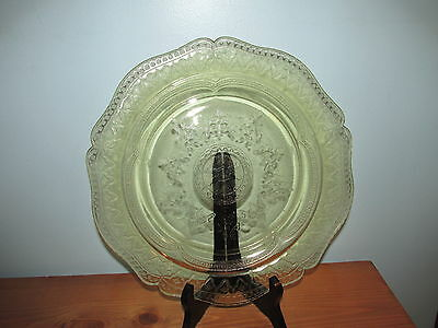 Vintage Yellow Depression Federal Glass Plate Collectible Glassware (J)
