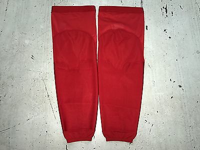New! Reebok Team Issued NHL Pro Stock Hockey Player Practice Socks XL Solid Red