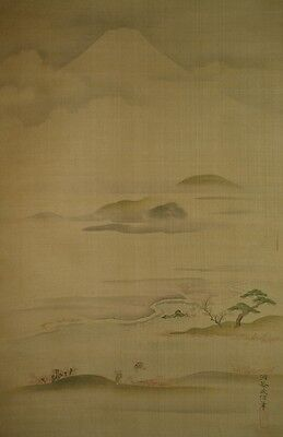 Hanging Scroll 狩野 Japanese Painting Japan Antique Kano Asian ink Picture a268