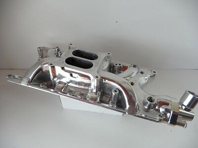Ford Windsor Polished Alloy Inlet Manifold Dual Plain Suit 289-302 Windsor