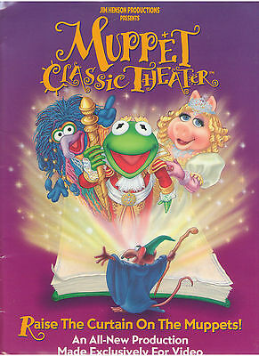 Muppet Classic Theater Press Kit Jim Henson Miss Piggy Kermit The Frog Fozzie