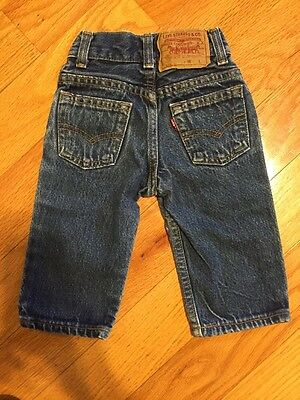 Vintage Infant Levi's Size 0-3 Months Made In The USA Levi 501 Jeans Size 0
