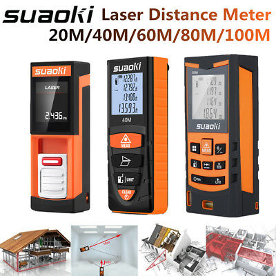 Suaoki 20M-100M Digital Laser Distance Meter Area Volume Range Finder Measure AU