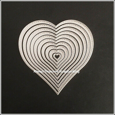 Nesting Heart Metal Cutting Die Stencil Scrapbooking Craft Card Embossing Paper