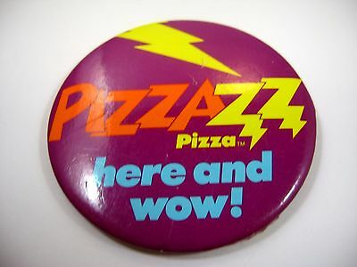Vintage Collectible Pin Button: 1985 Taco Bell PIZZAZZ PIZZA Advertising