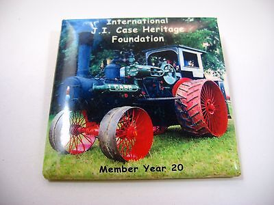 Vintage Collectible Pin Button: JI Case Foundation Antique Tractors 20 Year