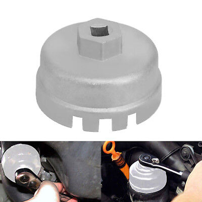 Oil Filter Aluminum Cup Wrench Housing Tool Remover 64.5mm 14 Flutes for Toyota