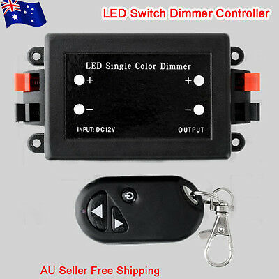 DC 12V 8A LED Switch Dimmer Controller for 3528 5050 LED Strips Single Colour