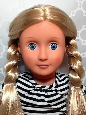 """Our Generation 18"""" Doll Poodle Skirt Outfit Blonde Hair Blue Eyes"""