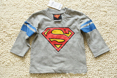 Toddler Baby kids T-shirt Playsuit Outfits Clothing Long Sleeve Top Superman