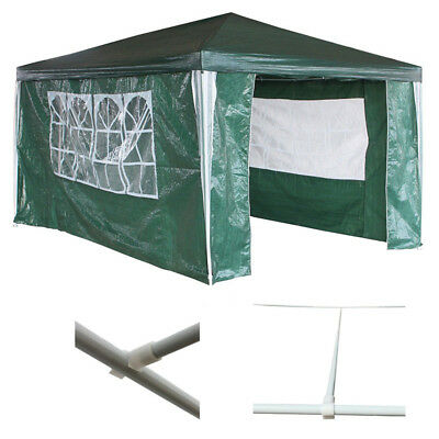Waterproof Green 3m x 4m Outdoor Garden Gazebo Party Tent Marquee Awning Canopy