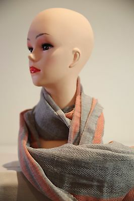 SPORTSCRAFT Hilary wool long scarf grey-orange in colour new with tag