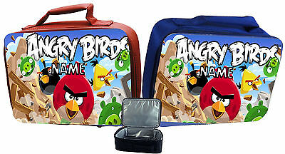 Angry Birds #1 Personalised Childs Insulated Lunch Bag - Red Or Blue