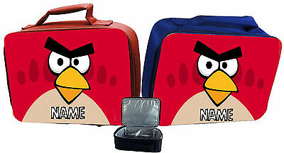 Angry Birds #2 Personalised Childs Insulated Lunch Bag - Red Or Blue