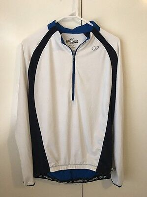 spalding men's cycling long sleeve sportswear multicoloured size Large