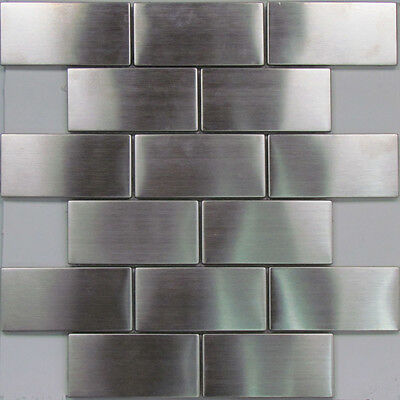 Stainless Steel Subway Wall Mosaic Tiles